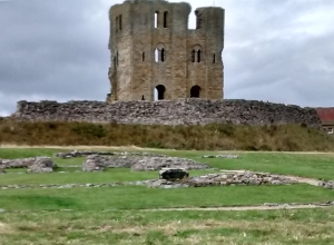 Scarborough Castle Keep and Curtain Wall