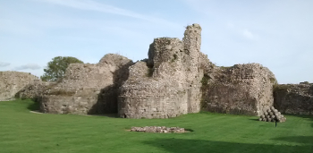 Pevensey Castle Keep Remnants